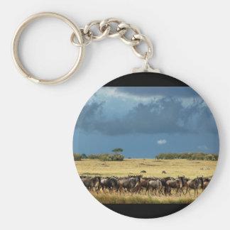Blue Wildebeest (GNU) Masai Mara Kenya keychain