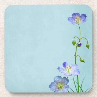 Blue Wildflower Beverage Coaster