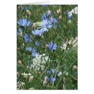 Blue Wildflowers Card