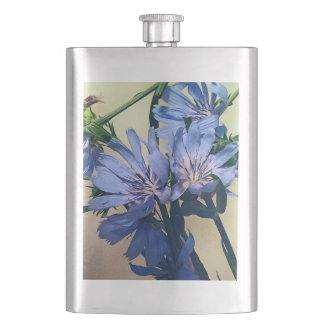 Blue Wildflowers Flask