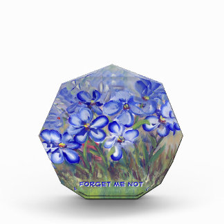 Blue Wildflowers in a Field Fine Art Painting Acrylic Award