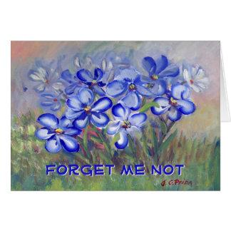 Blue Wildflowers in a Field Fine Art Painting Card