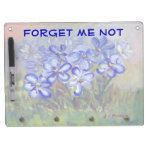 Blue Wildflowers in a Field Fine Art Painting Dry Erase Board With Keychain Holder