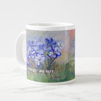 Blue Wildflowers in a Field Fine Art Painting Giant Coffee Mug