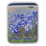 Blue Wildflowers in a Field Fine Art Painting Sleeves For iPads
