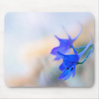 Blue wildflowers mouse pad