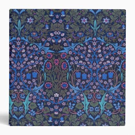 Blue William Morris Art Nouveau Binder