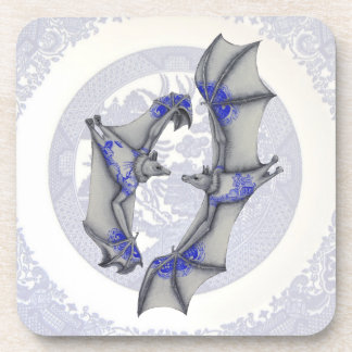 Blue Willow Bats Coasters