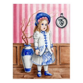 Blue Willow Bru Postcard
