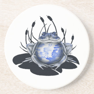 Blue Willow Bull Frog Coasters