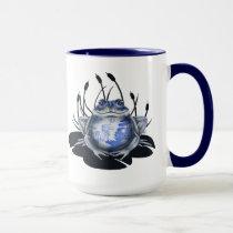 Blue Willow Bull Frog Coffee Mug
