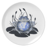 Blue Willow Bull Frog Plate