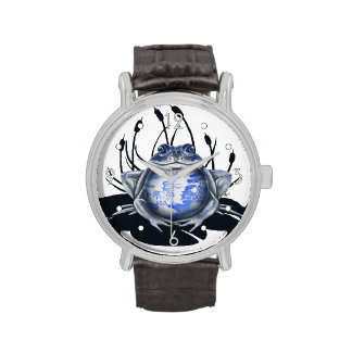 'Blue Willow Bull Frog' Watch