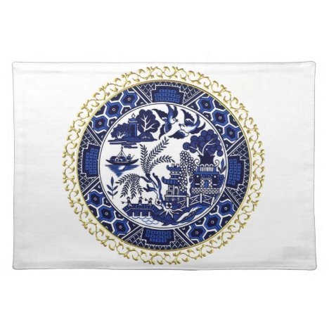 Blue Willow China Design Placemat v3
