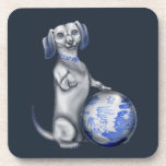 Blue Willow Dachshund Coasters