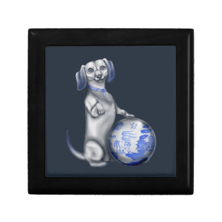 Blue Willow Dachshund Gift Boxes