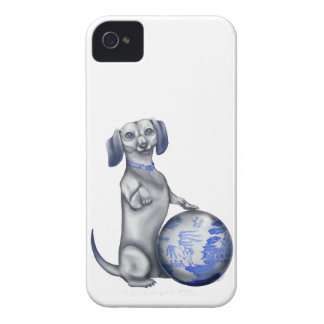 Blue Willow Dachshund iPhone 4/4s Case