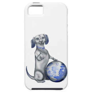 Blue Willow Dachshund iPhone 5 Case