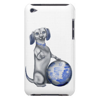 Blue Willow Dachshund iPod Touch Case