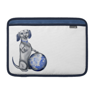 Blue Willow Dachshund MacBook Sleeve