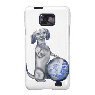 Blue Willow Dachshund Samsung Galaxy S2 Case