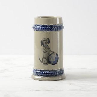 Blue Willow Dachshund Stein Mugs