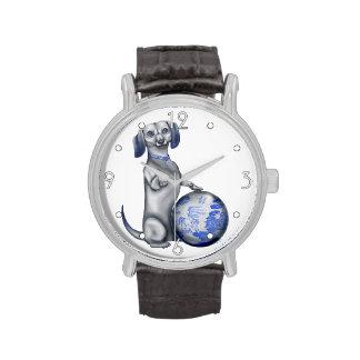 Blue Willow Dachshund Watch