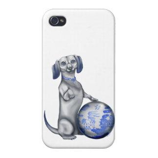 Blue Willow Dachsund iPhone 4 Case