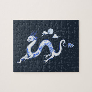 Blue Willow Dragon Jigsaw Puzzle