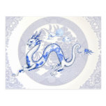 Blue Willow Dragon Postcard Post Cards