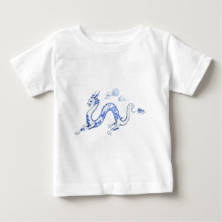 Blue Willow Dragon with White BG Baby T-Shirt