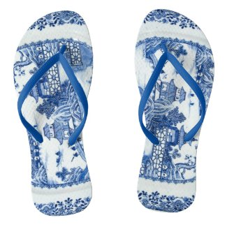 Blue Willow Flip Flops - You Have Arrived