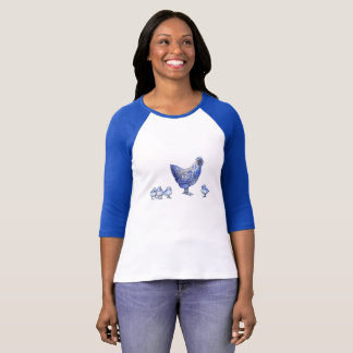 Blue Willow Hen and Chicks Shirt