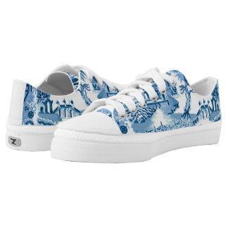 Blue Willow Low Top Printed Shoes