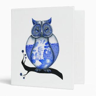 Blue Willow Owl Binder