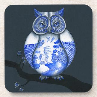 Blue Willow Owl Coaster