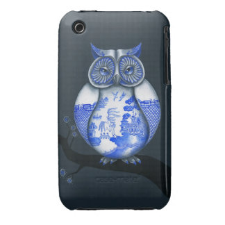 Blue Willow Owl iPhone 3 Cover