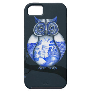 Blue Willow Owl iPhone SE/5/5s Case