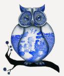 Blue Willow Owl Shirt