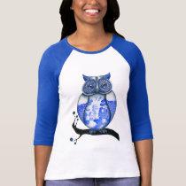 Blue Willow Owl T-Shirt
