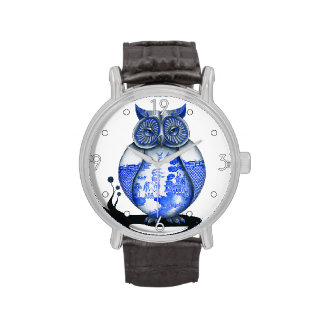 'Blue Willow Owl' Watch