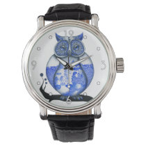 'Blue Willow Owl' Watch