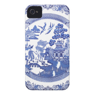 Blue Willow pattern iPhone 4 Case-Mate Case