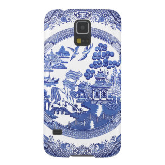 Blue Willow pattern Samsung Cases