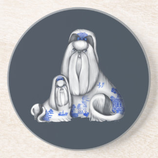 Blue Willow Shih Tzus Coasters