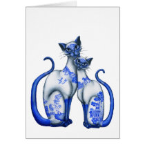 Blue Willow Siamese Cats
