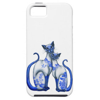 Blue Willow Siamese Cats iPhone SE/5/5s Case