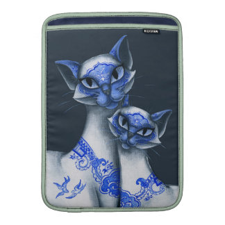 Blue Willow Siamese Cats MacBook Air Sleeves