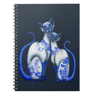 Blue Willow Siamese Cats Notebooks