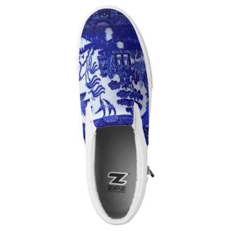 Blue Willow Slip on Sneakers: Casual Elegance